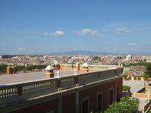 罗马市全景 意大利navona广场罗马旅行 库存照片