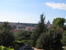 罗马市全景 意大利navona广场罗马旅行 免版税库存图片