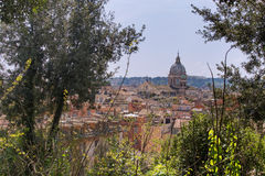 罗马市视图 库存照片