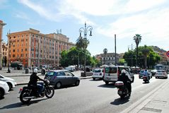 罗马市2014年5月30日的街道生活 免版税库存照片
