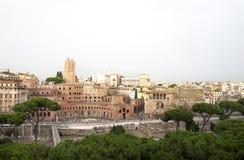 罗马帝国废墟美丽的景色  免版税库存照片