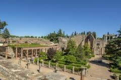 罗马帝国的废墟在梅里达 库存照片