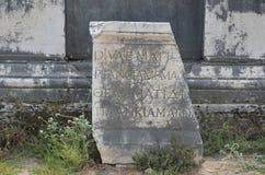 罗马帝国的最美好的工作Perge市在土耳其,超级现代文明废墟,坟茔石头 免版税图库摄影