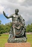 罗马帝国皇帝涅尔瓦雕塑 ST 彼得斯堡, TSARSKOYE SELO,俄罗斯 图库摄影