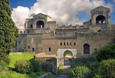 罗马广场圣乔瓦尼考古学考古学开掘 免版税库存图片