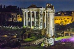 罗马广场夜场面 库存照片