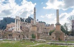 罗马广场的一个小的看法 免版税图库摄影