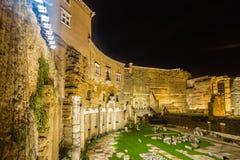 罗马广场的夜视图 免版税图库摄影