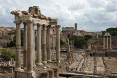 罗马广场罗马斗兽场在背景中 库存照片