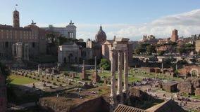 罗马广场考古学区域,全景 股票视频