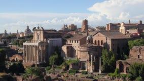 罗马广场考古学区域,全景 影视素材