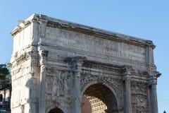 罗马广场,塞普蒂米乌斯・塞维鲁,罗马,意大利曲拱  免版税库存照片