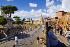 罗马广场,罗马, ITALY-SEPTEMBER 24 库存图片
