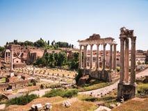 罗马广场(论坛Romanum)在罗马,意大利 免版税库存图片