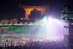 罗马庆祝新年的` s党2018年 免版税库存照片