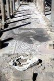 罗马废墟和马赛克,帕福斯,塞浦路斯 库存照片
