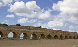 罗马废墟在凯瑟里雅,以色列 免版税库存图片