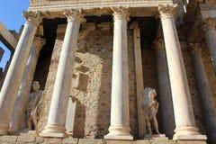 罗马废墟在梅里达 免版税图库摄影