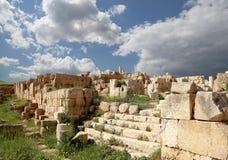 罗马废墟在约旦市杰拉什,约旦 库存照片