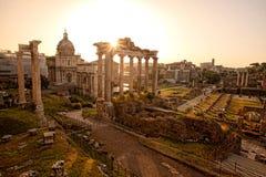 罗马废墟在罗马,意大利首都 免版税库存图片