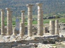 罗马废墟在西班牙 免版税库存照片