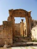 罗马废墟在Jerash,乔丹。 库存图片