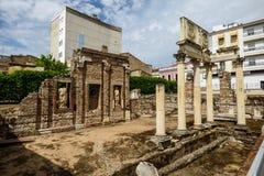 罗马废墟在Mérida,西班牙 免版税图库摄影