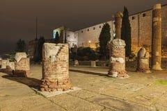 罗马废墟地方 免版税图库摄影