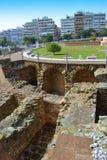 罗马废墟塞萨罗尼基希腊 免版税库存图片