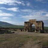 罗马废墟梅克内斯摩洛哥 库存照片