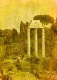 罗马废墟的葡萄酒图象 免版税库存图片