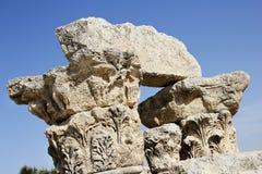 罗马废墟,阿曼,约旦 库存图片