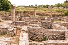 罗马废墟, Alcudia,马略卡 免版税图库摄影