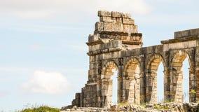 罗马废墟volubilis 免版税图库摄影