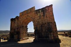 罗马废墟volubillis 免版税图库摄影