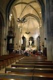 罗马式中世纪教会在马赞 免版税库存照片