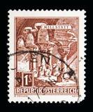罗马式修道院, Millstatt修道院, serie,大约1970年 库存图片