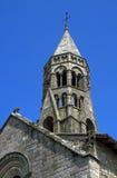 罗马式圣徒Léonard aisled教会,法国 库存照片