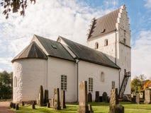 罗马式教会在瑞典 免版税库存图片