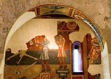 罗马式教会Sant霍安de Boi, la瓦勒de Boi,西班牙 库存照片