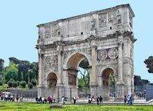 罗马意大利凯旋门大理石 免版税图库摄影