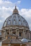 罗马意大利梵蒂冈建筑学目的地圆顶特写镜头 免版税库存照片