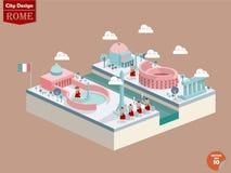 罗马意大利设计传染媒介  免版税库存图片