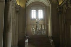 罗马意大利2016年6月18日 在阿尔塔雷della Patria Monumen的飞过的胜利雕象 图库摄影
