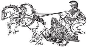 罗马战争运输车 免版税库存图片
