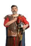 罗马战士向致敬 免版税库存照片