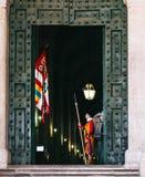罗马教皇瑞士近卫队 免版税库存照片