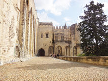 罗马教皇的宫殿,阿维尼翁 库存图片