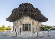 罗马数字3 Ahmet喷泉在伊斯坦布尔,土耳其法提赫区  免版税图库摄影