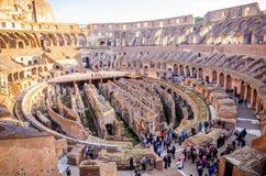 罗马斗兽场内部视图 免版税图库摄影